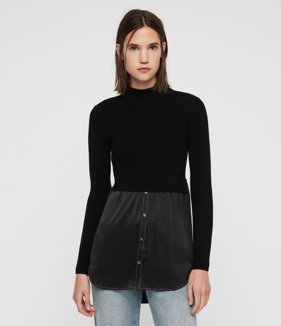 Womens Kowlo Shirt Sweater (black) - Image 1
