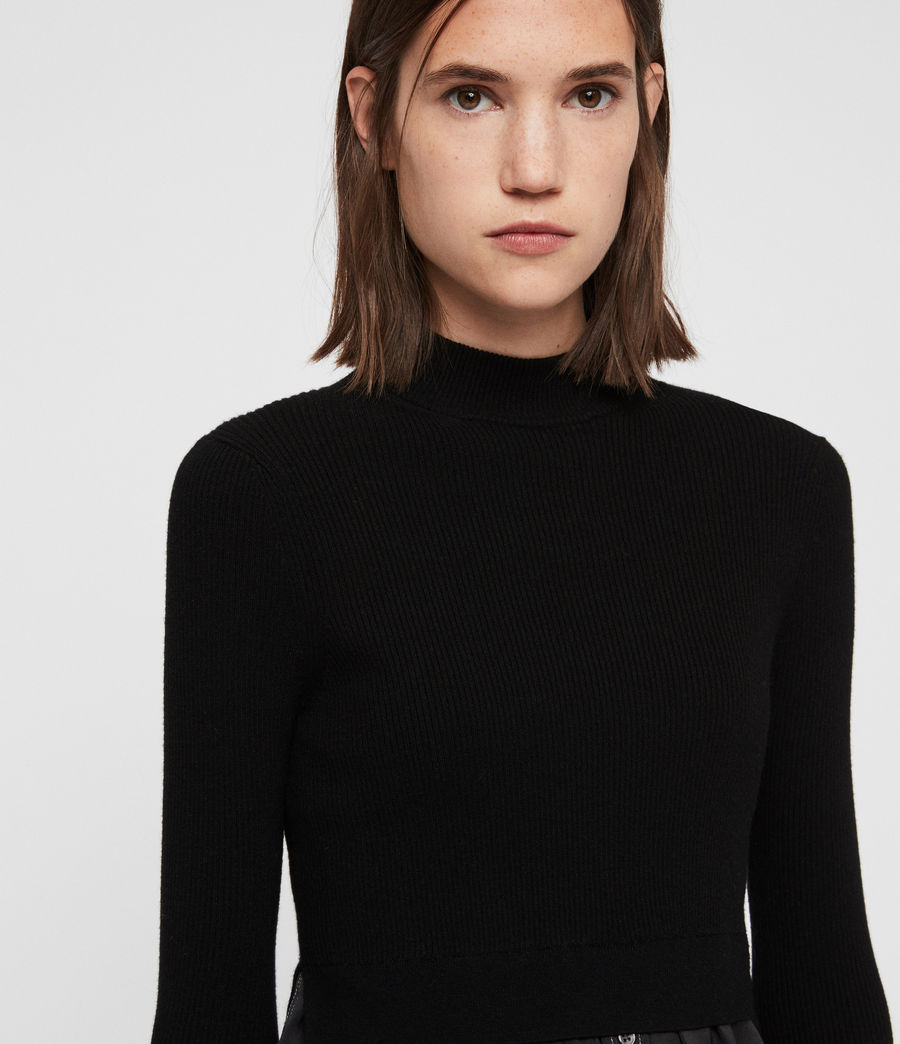 Women's Kowlo Shirt Jumper (black) - Image 4