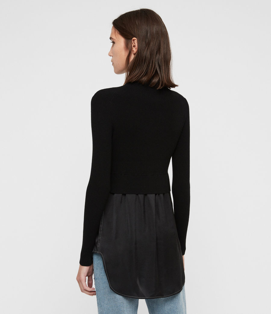 Womens Kowlo Shirt Sweater (black) - Image 5