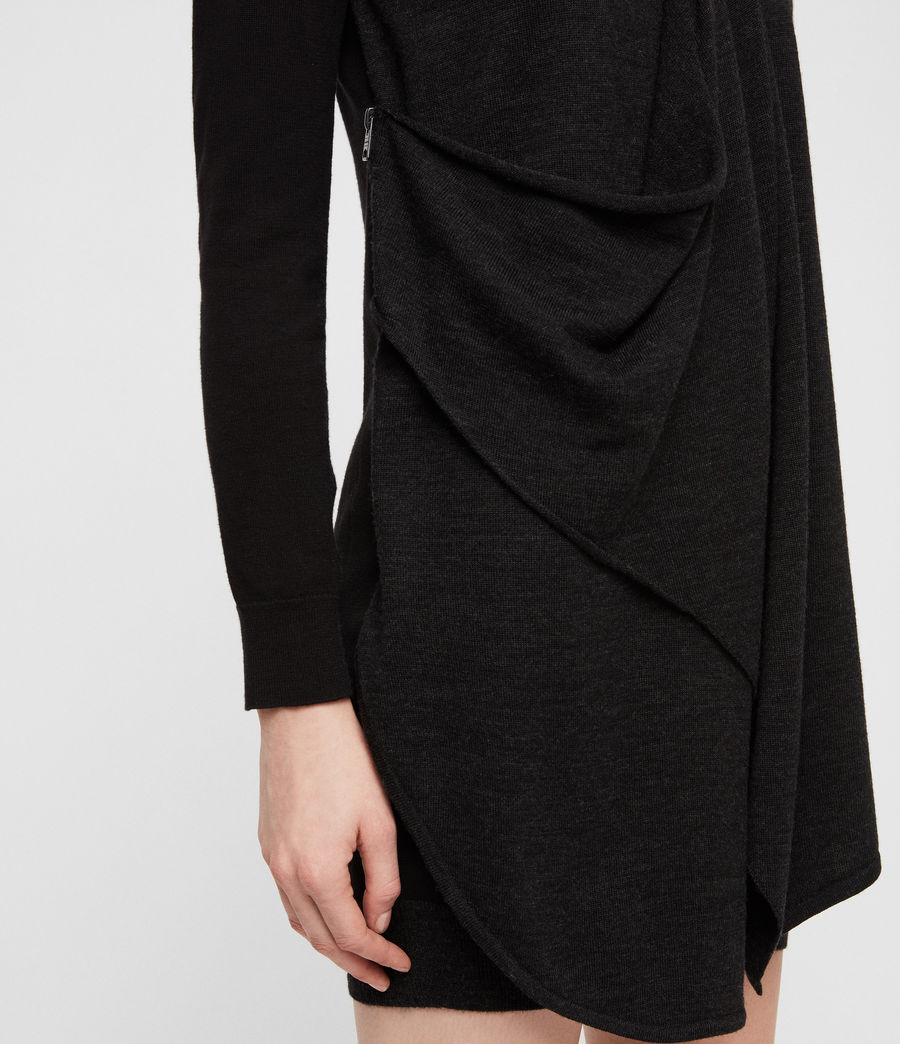 Womens Drina Sweater Dress (black) - Image 2
