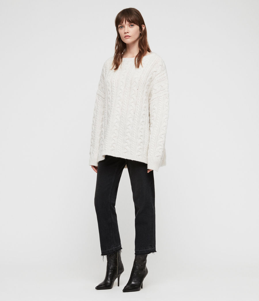 Women's Cable Jumper (sodium_white) - Image 1
