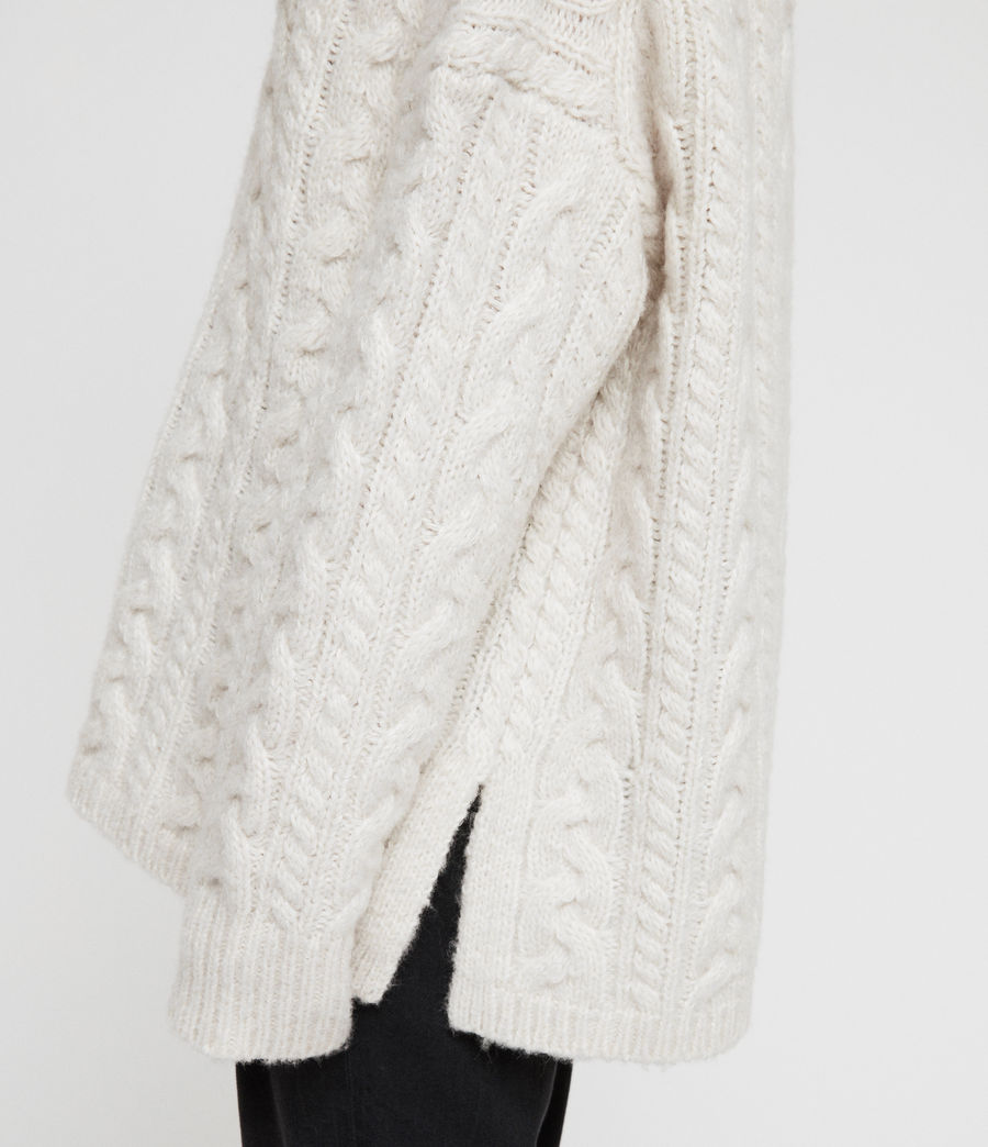 Women's Cable Jumper (sodium_white) - Image 2