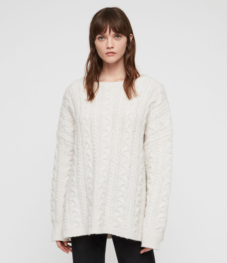 Women's Cable Jumper (sodium_white) - Image 3