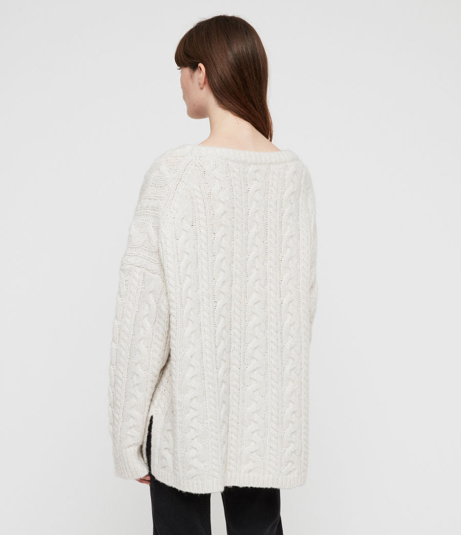 Women's Cable Jumper (sodium_white) - Image 4