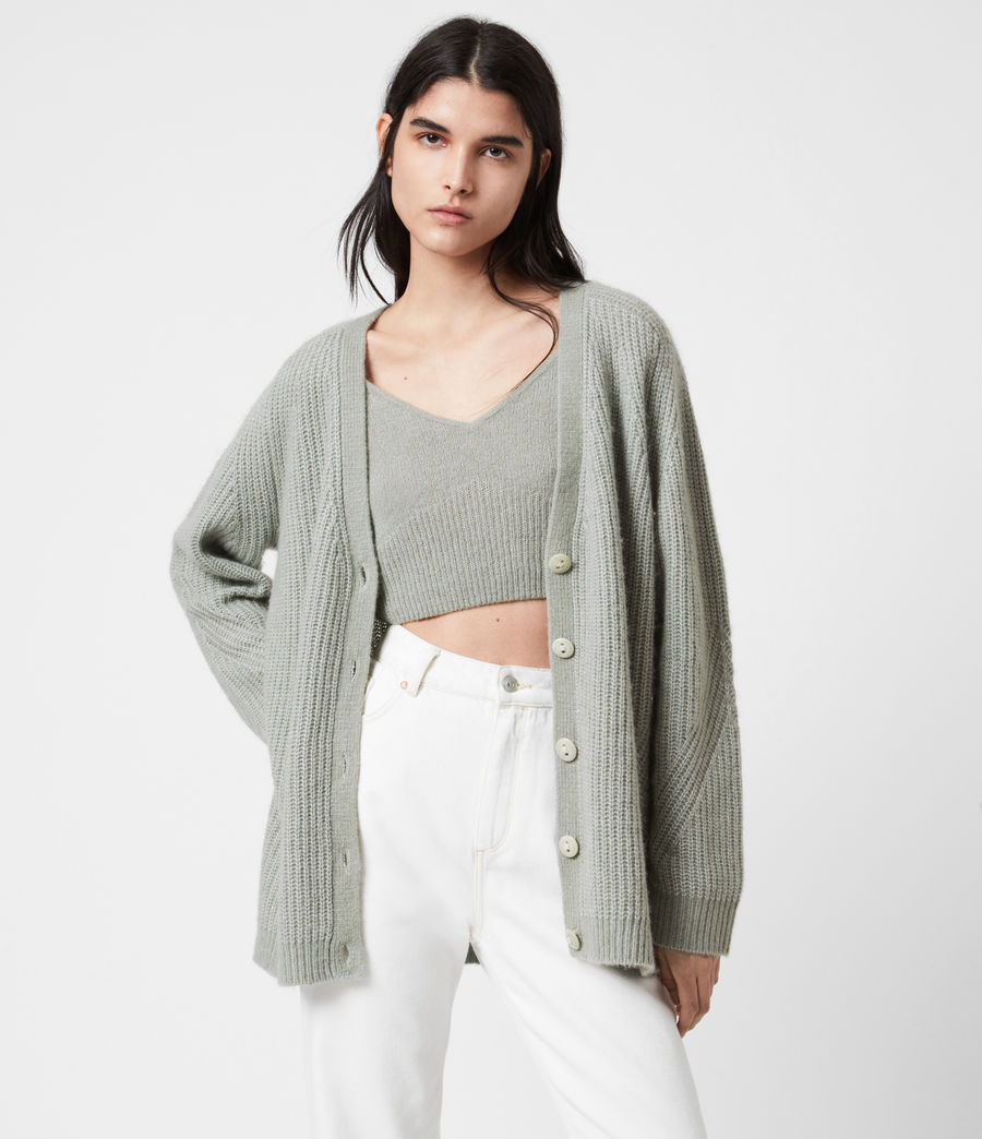Womens Leanne Cardigan (green_bay) - Image 1
