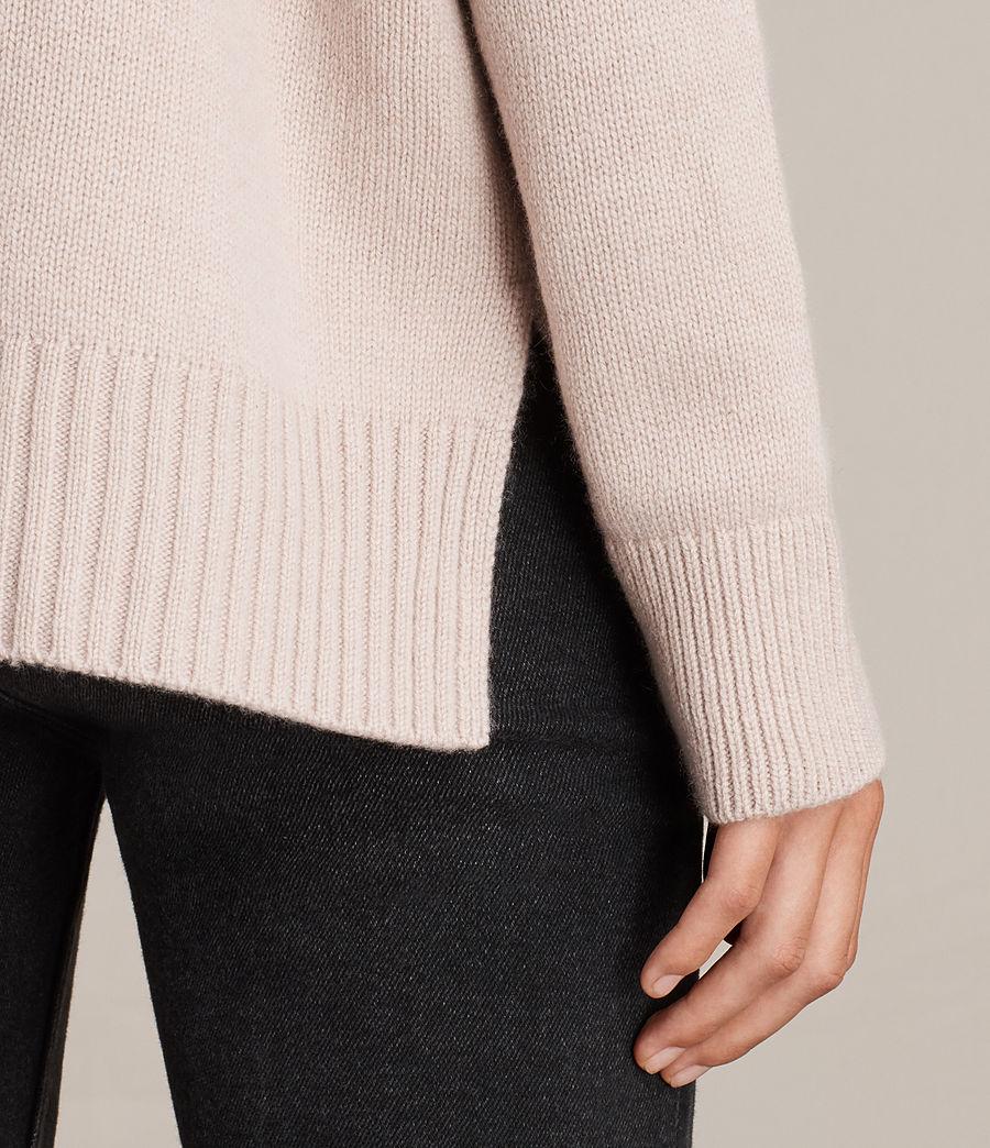 Womens Dasha Cashmere Crew Sweater (whisper_pink) - Image 2