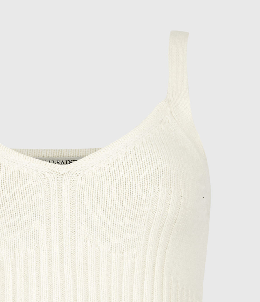 Womens Drew Cashmere-Wool Crop Top (ivory_white) - Image 5