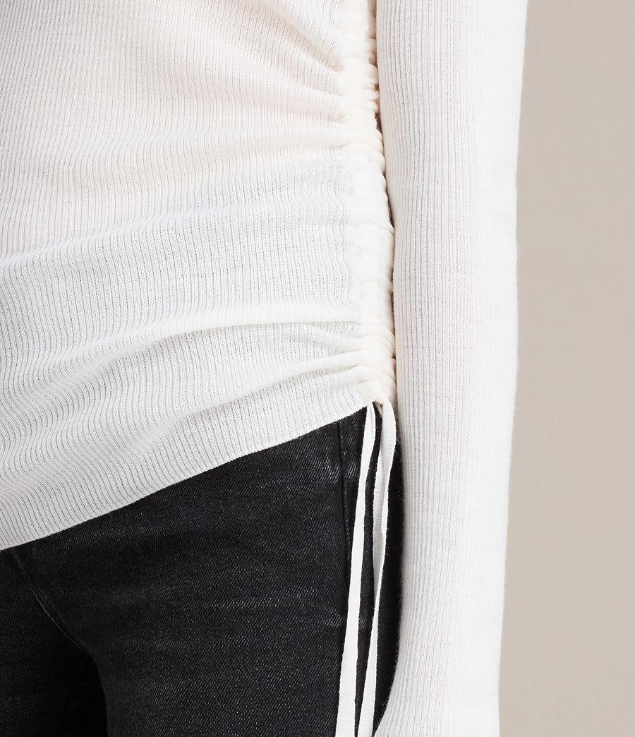 Femmes Pull Col V Vana (chalk_white) - Image 2