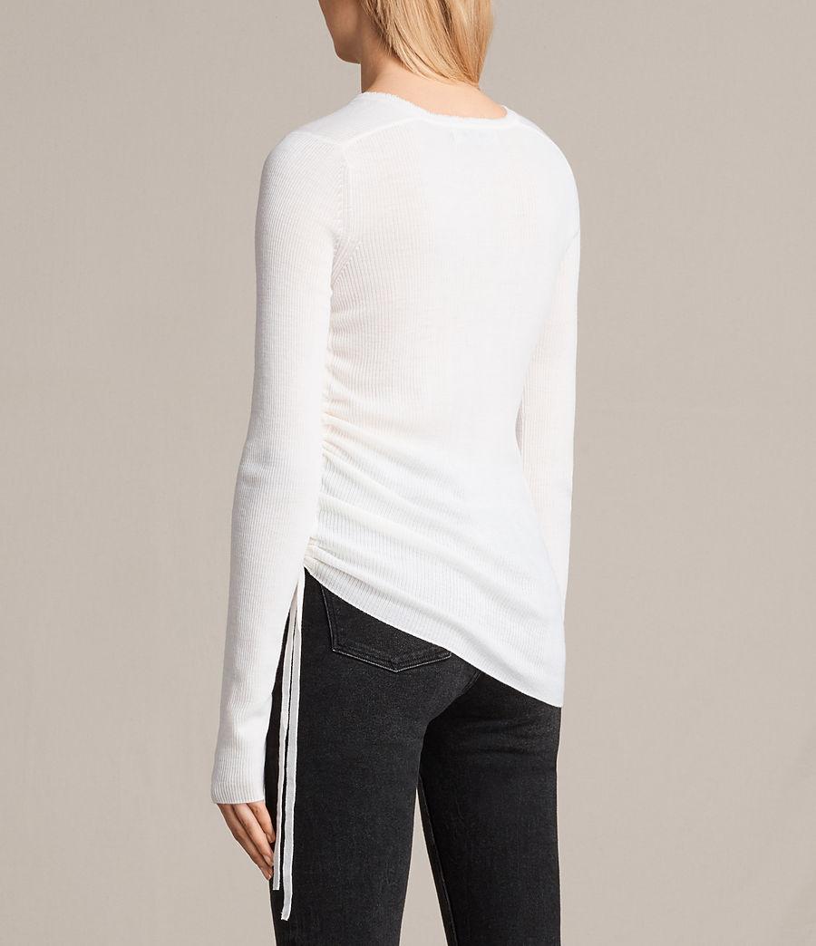 Femmes Pull Col V Vana (chalk_white) - Image 4