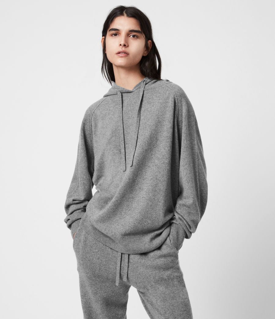Women's Olly Cashmere Hoodie (grey_marl) - Image 1