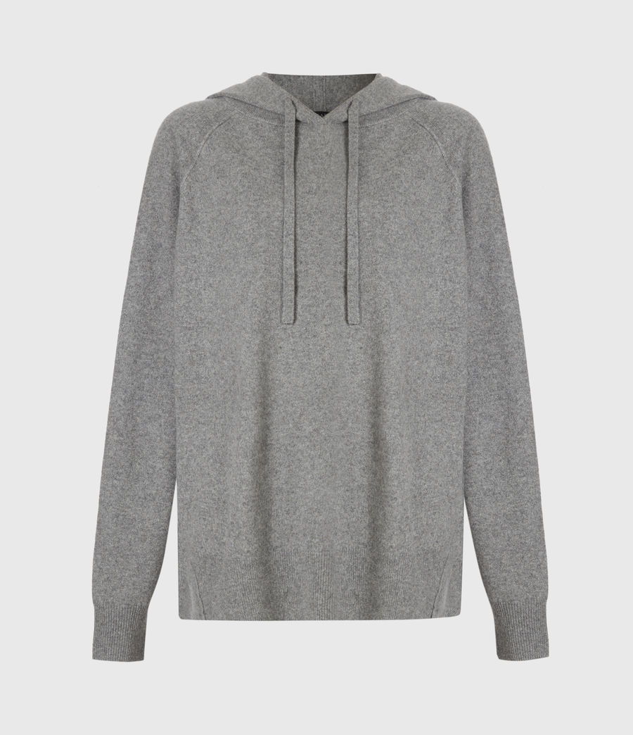 Women's Olly Cashmere Hoodie (grey_marl) - Image 2