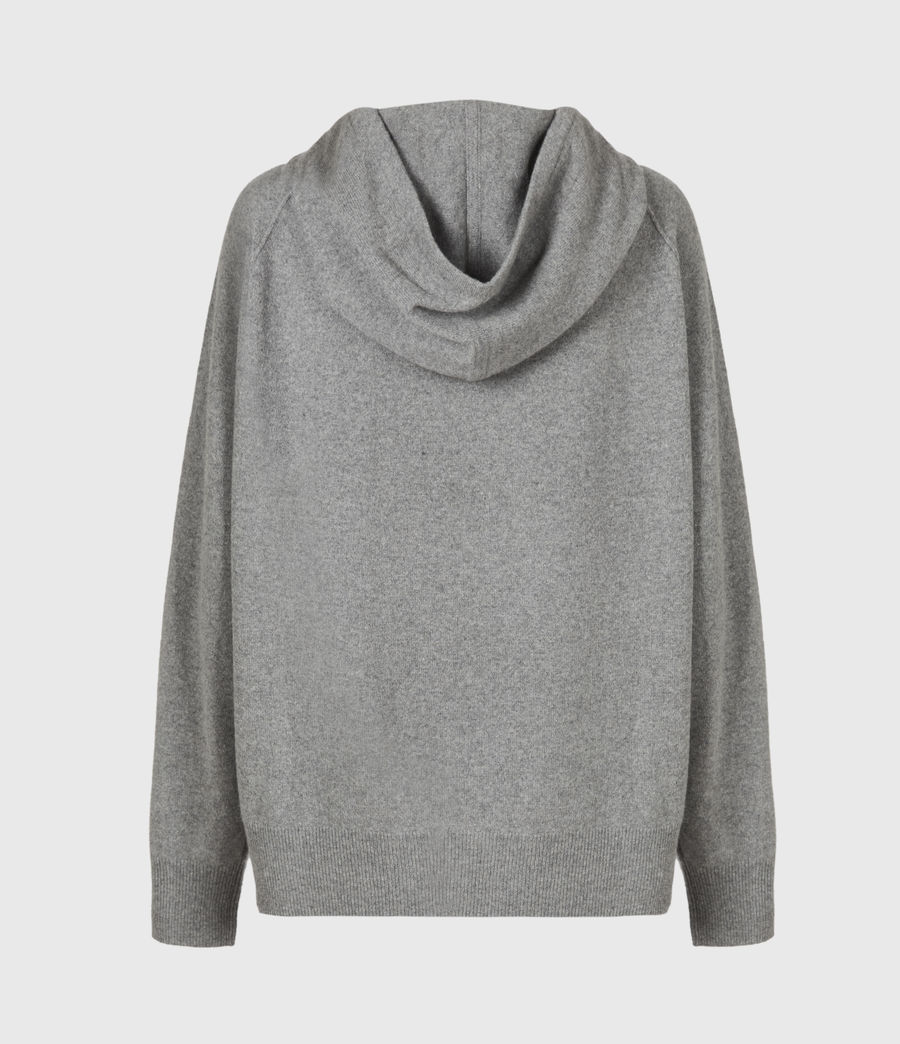 Women's Olly Cashmere Hoodie (grey_marl) - Image 3