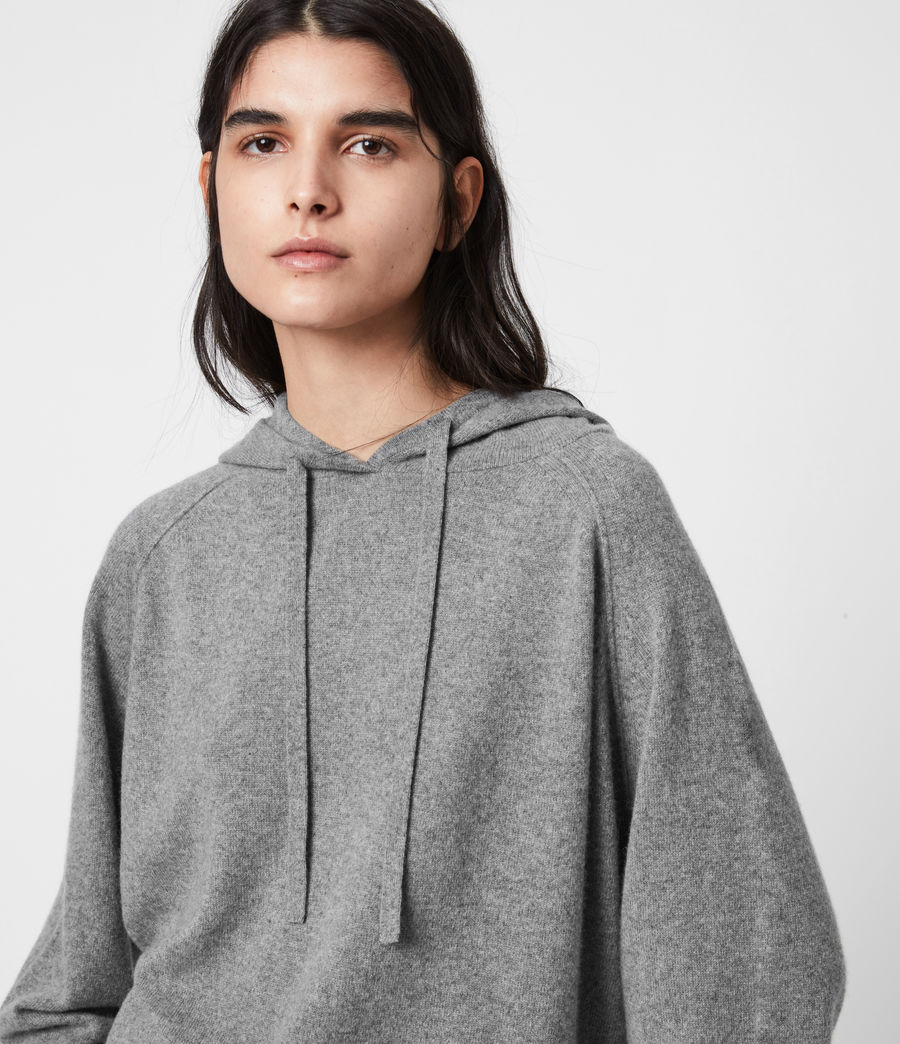 Women's Olly Cashmere Hoodie (grey_marl) - Image 4