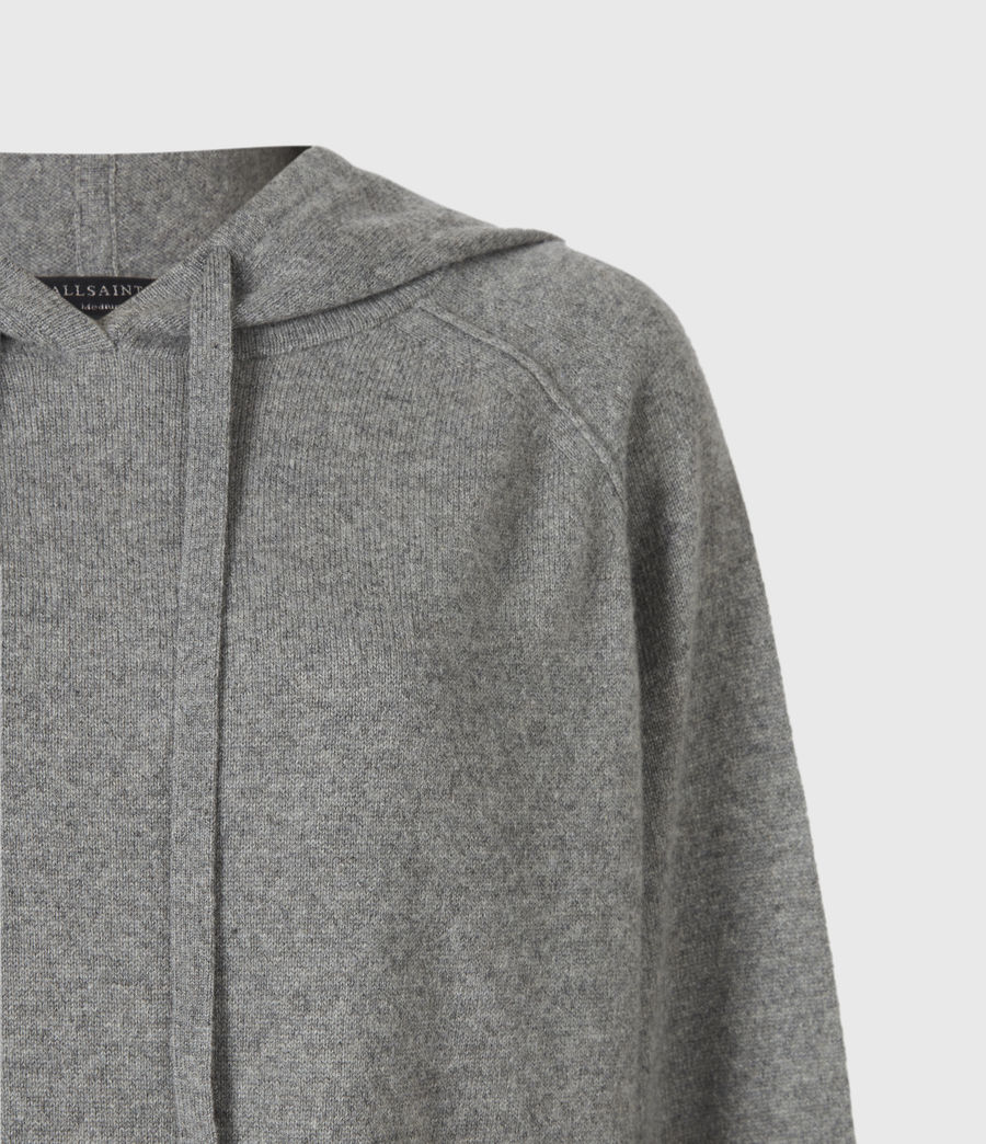 Women's Olly Cashmere Hoodie (grey_marl) - Image 5