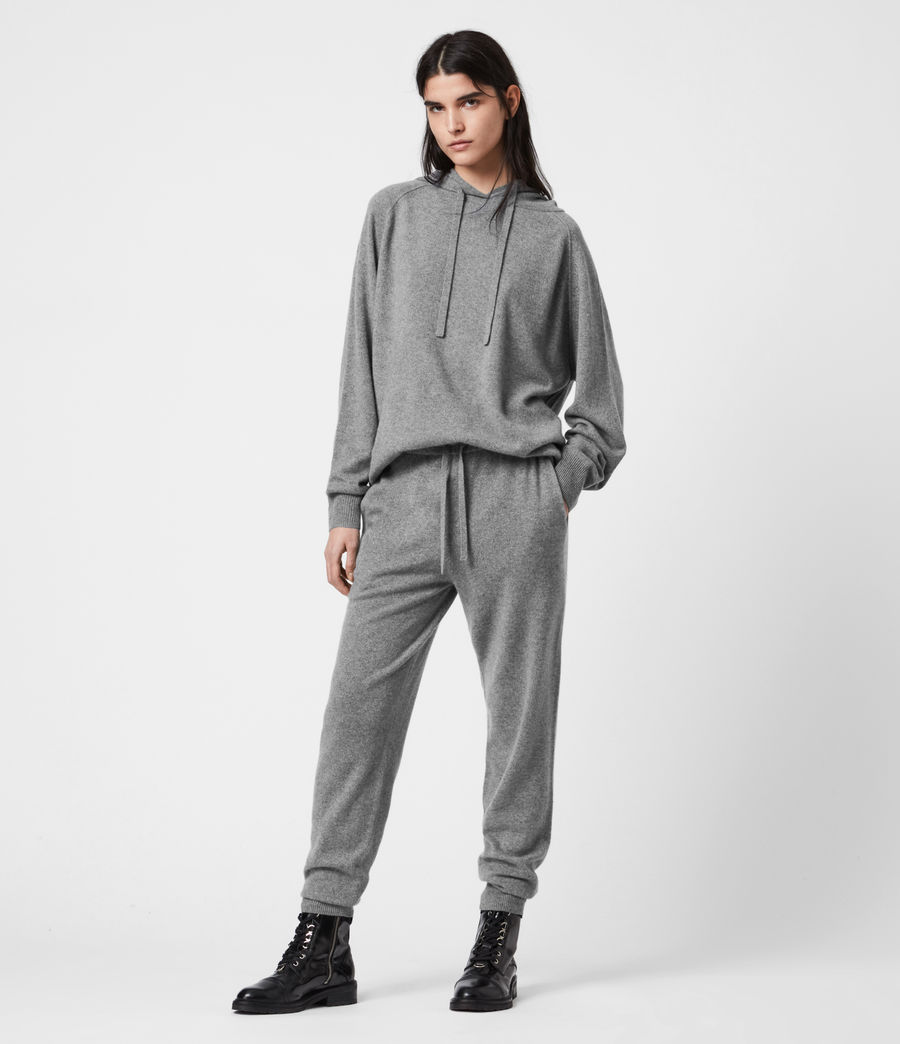 Women's Olly Cashmere Hoodie (grey_marl) - Image 6