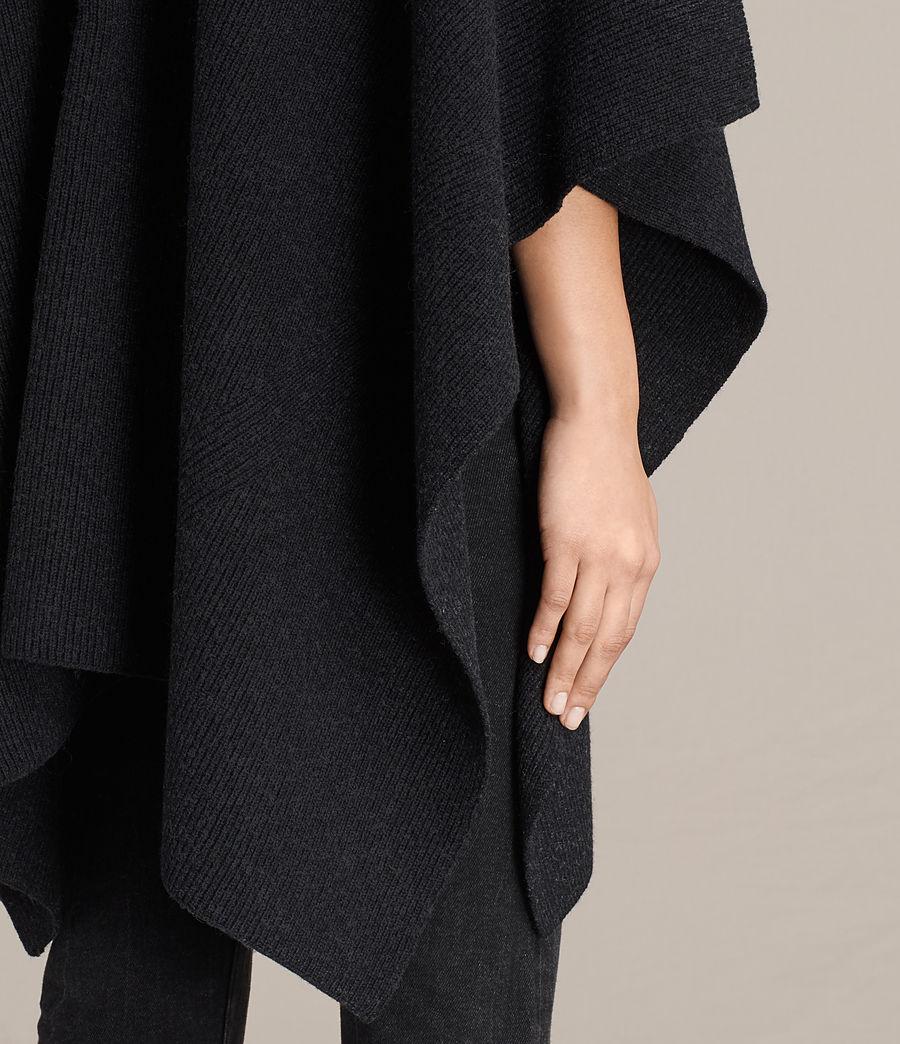 Womens Nargo Wrap Shawl (cinder_black_marl) - Image 2