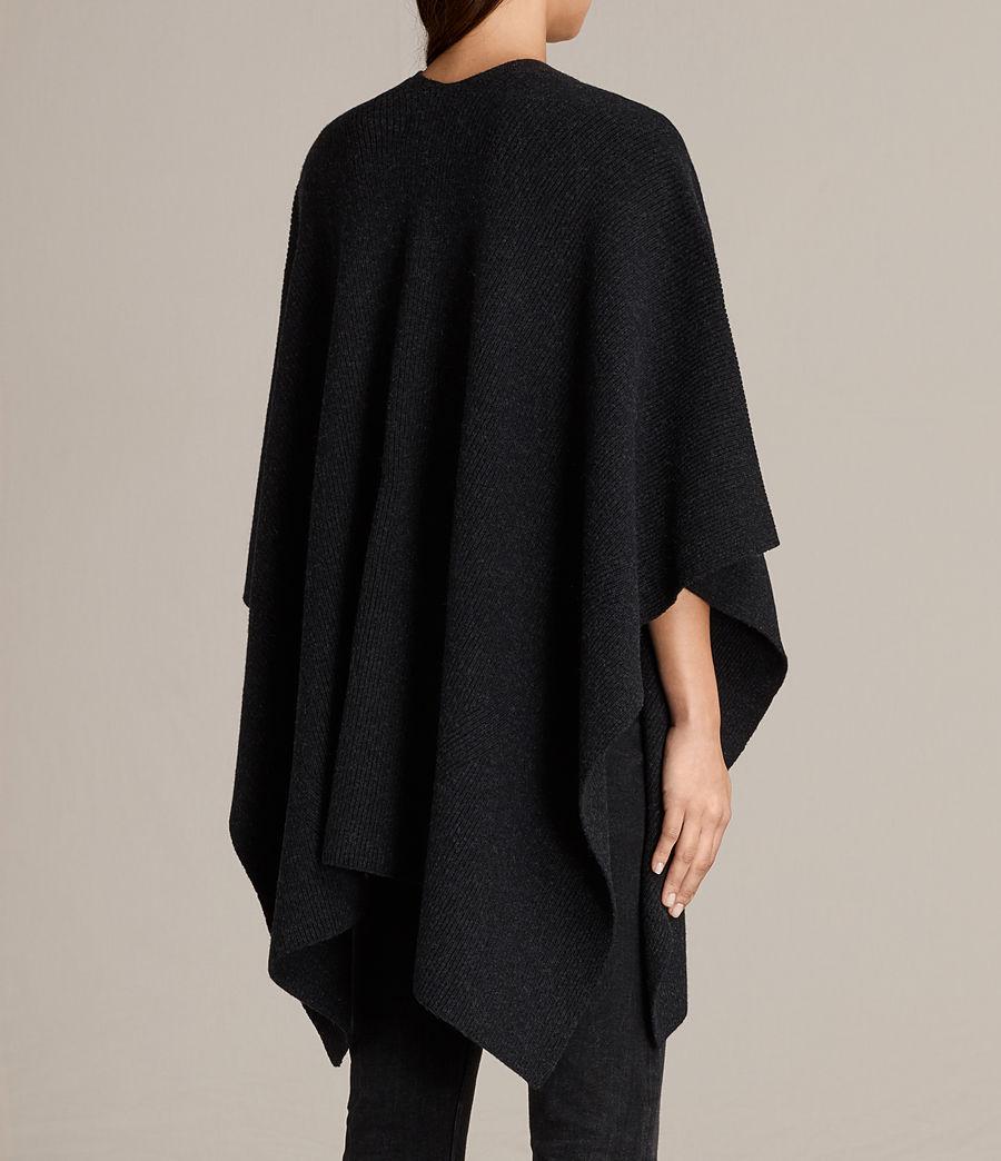 Womens Nargo Wrap Shawl (cinder_black_marl) - Image 4