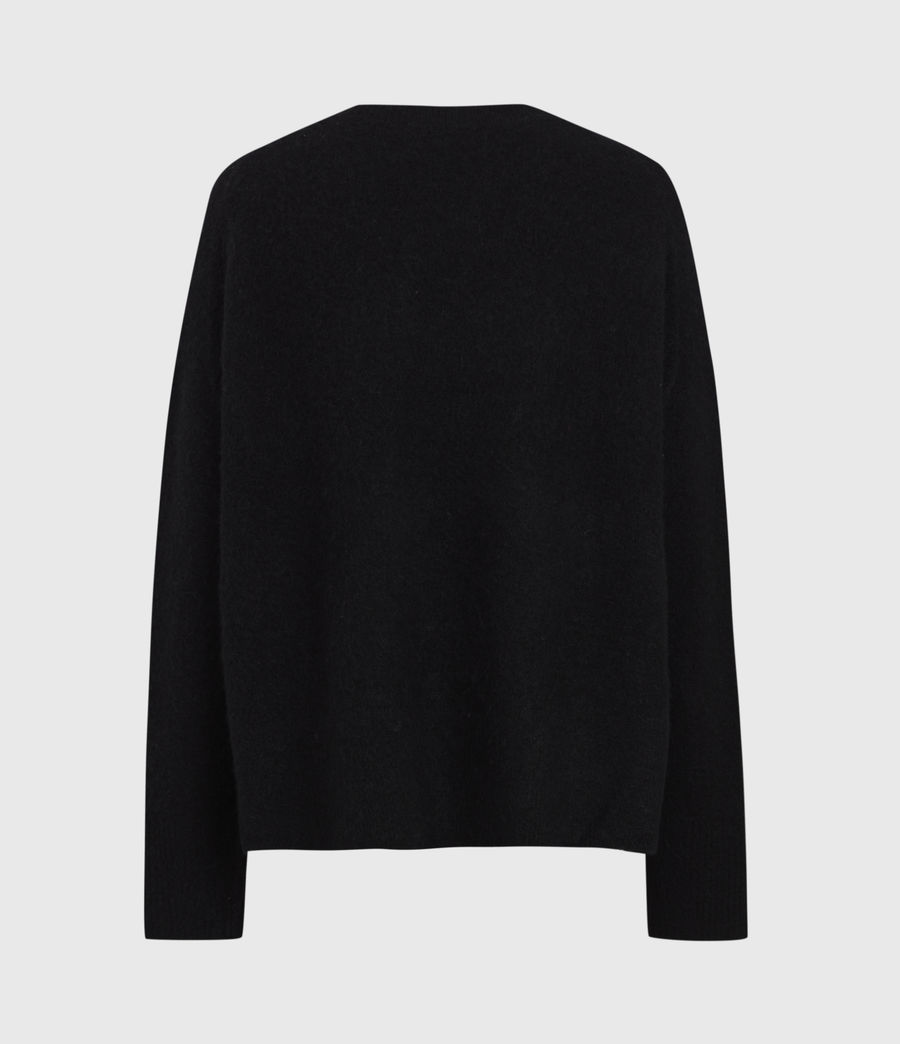 Womens Split Saint Crew Sweater (black_white) - Image 3