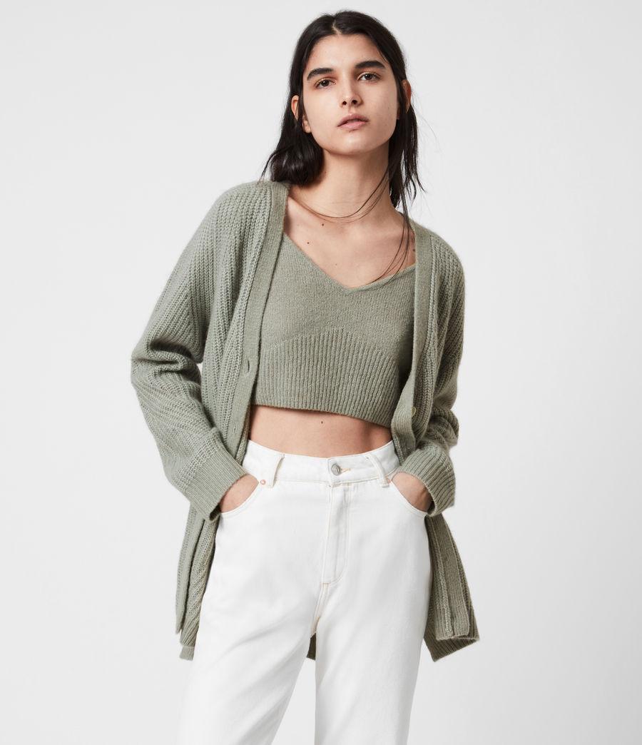 Womens Leanne Crop Top (green_bay) - Image 4