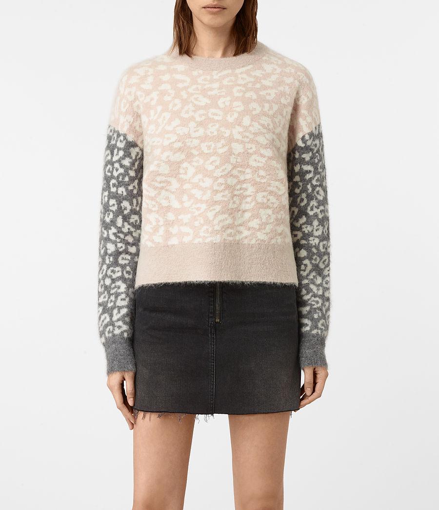 Womens Leya Crew Neck Sweater (pink) - Image 1