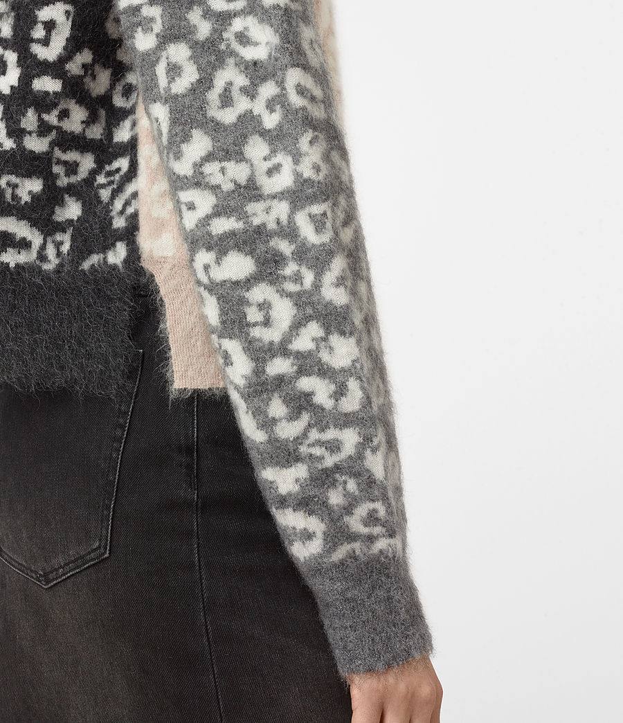 Womens Leya Crew Neck Sweater (pink) - Image 2