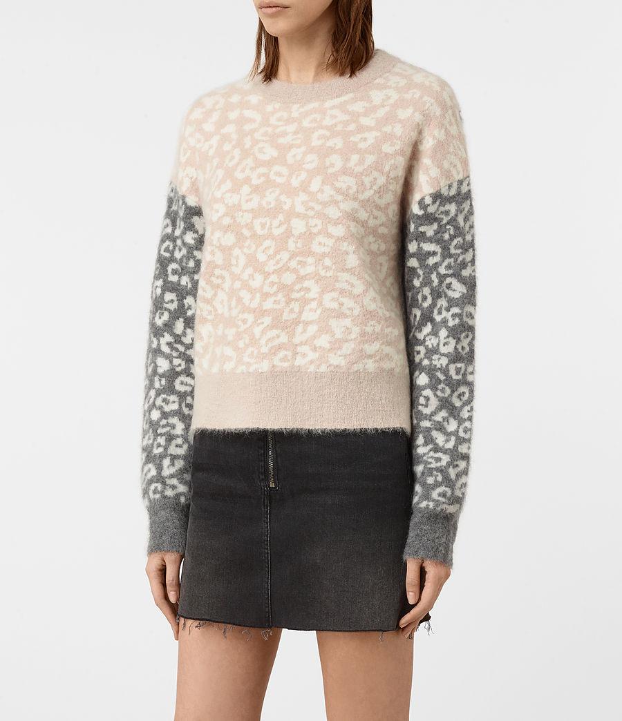 Womens Leya Crew Neck Sweater (pink) - Image 3