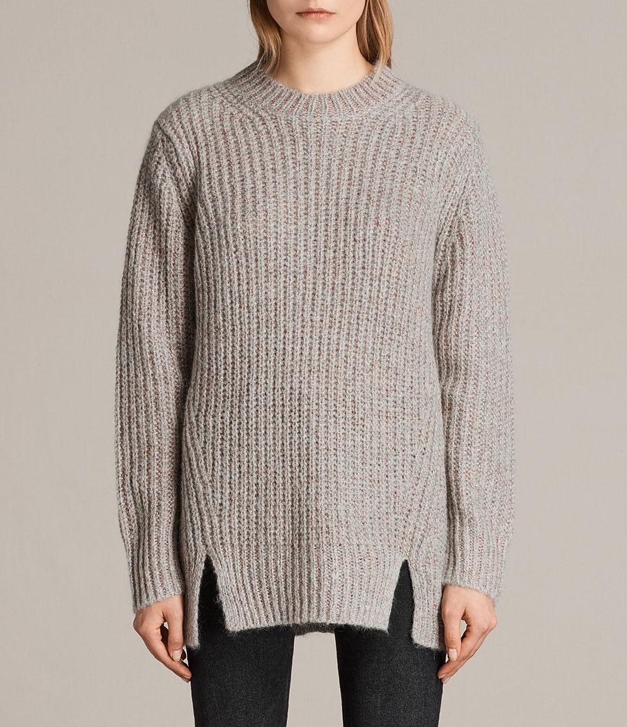 Womens Klash Crew Sweater (grey_marl) - Image 1
