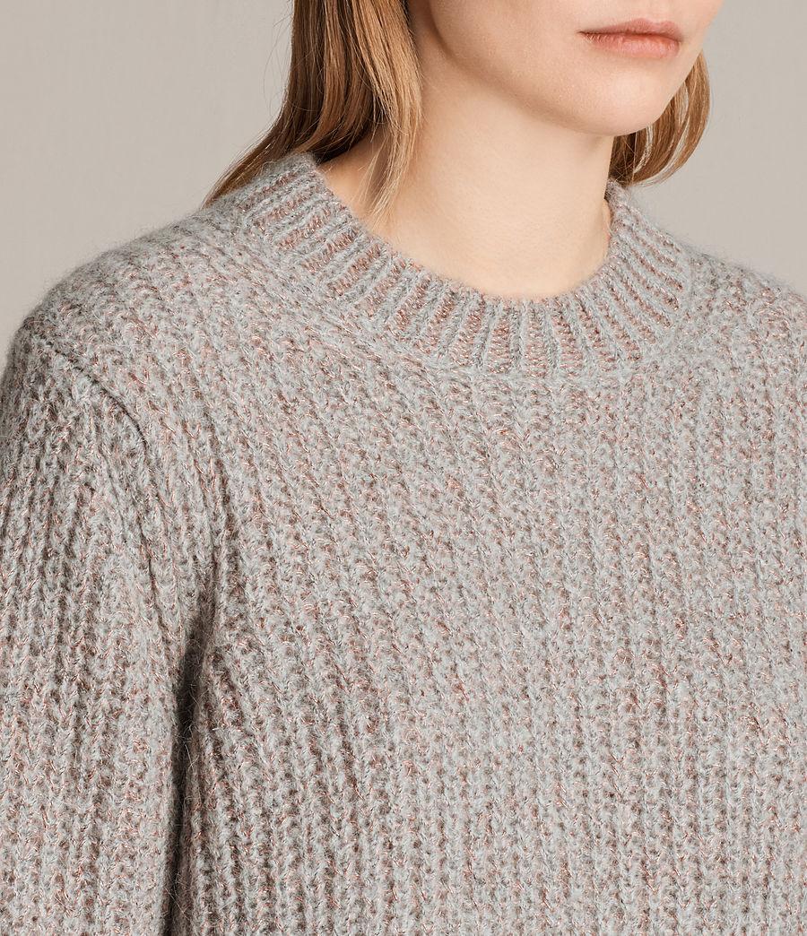 Womens Klash Crew Sweater (grey_marl) - Image 2