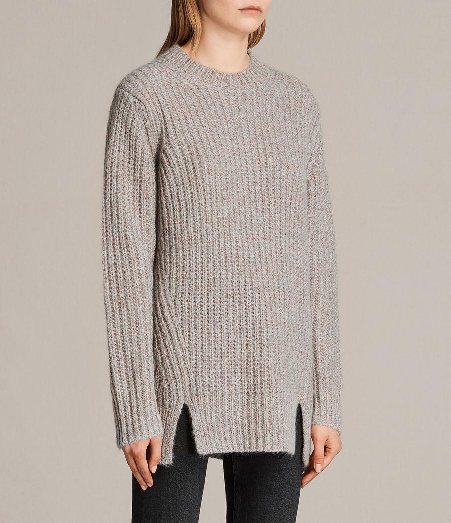 Womens Klash Crew Sweater (grey_marl) - Image 3