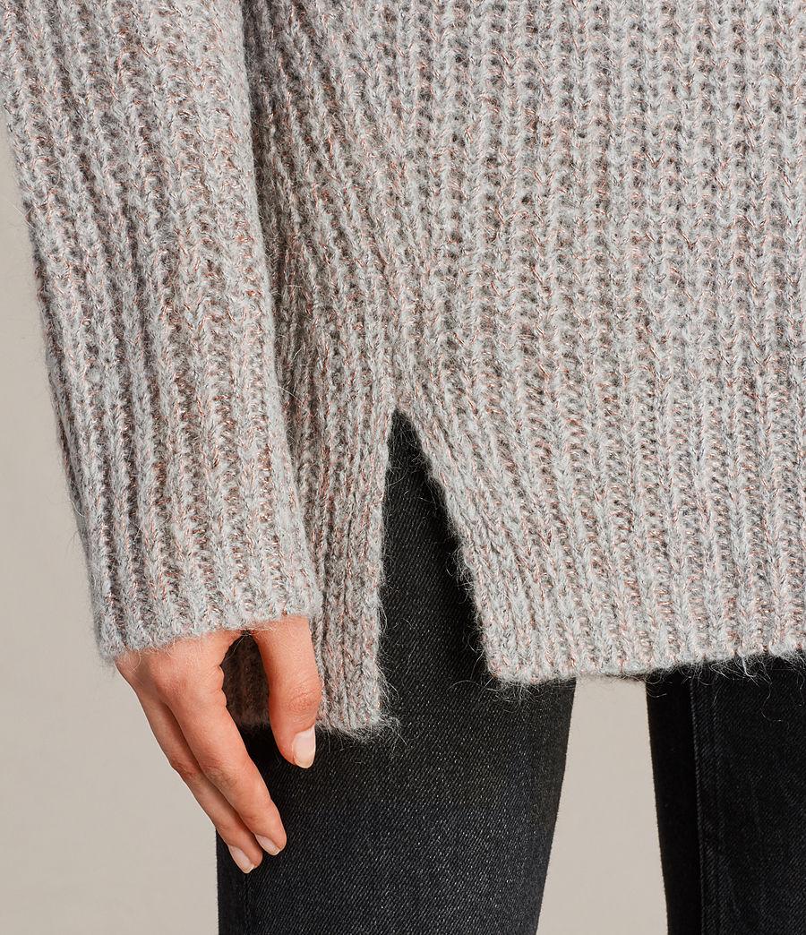 Womens Klash Crew Sweater (grey_marl) - Image 4