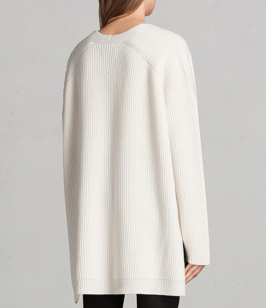 Womens Clea V-neck Sweater (chalk_white) - Image 5