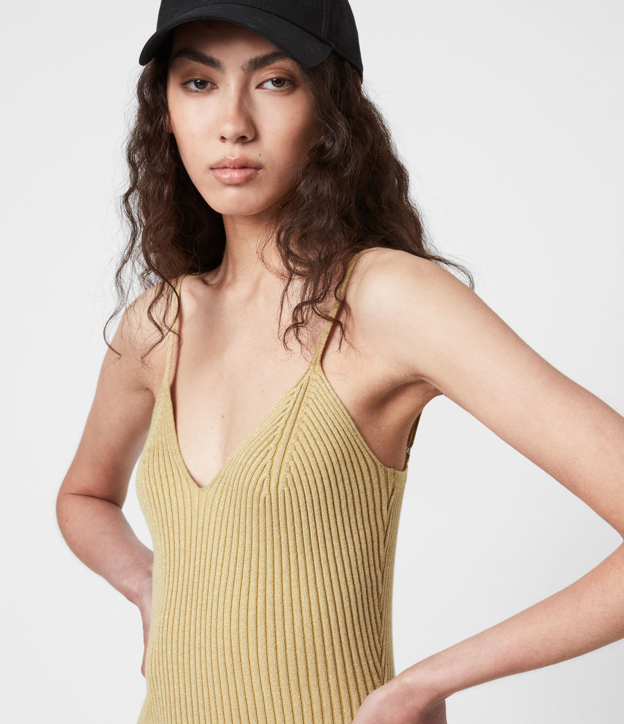 Women's Lexi Dress (gold) - Image 4