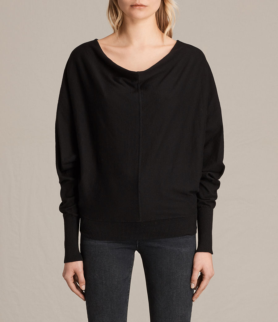 Womens Elgar Cowl Neck Sweater (black) - Image 1