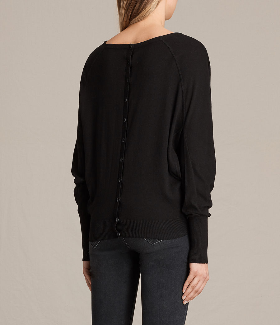 Womens Elgar Cowl Neck Sweater (black) - Image 4