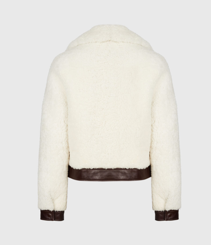 Women's Madsen Shearling Jacket (ecru_white_brown) - Image 3