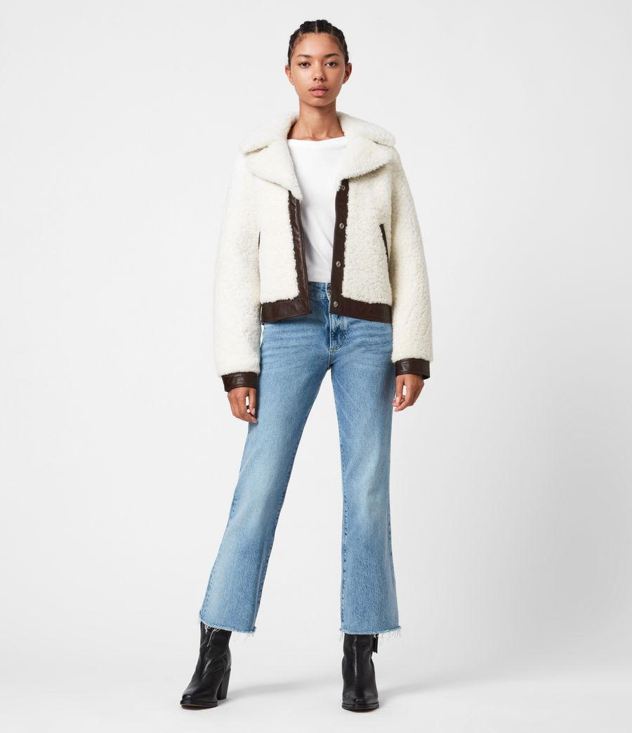 Womens Madsen Shearling Jacket (ecru_white_brown) - Image 4