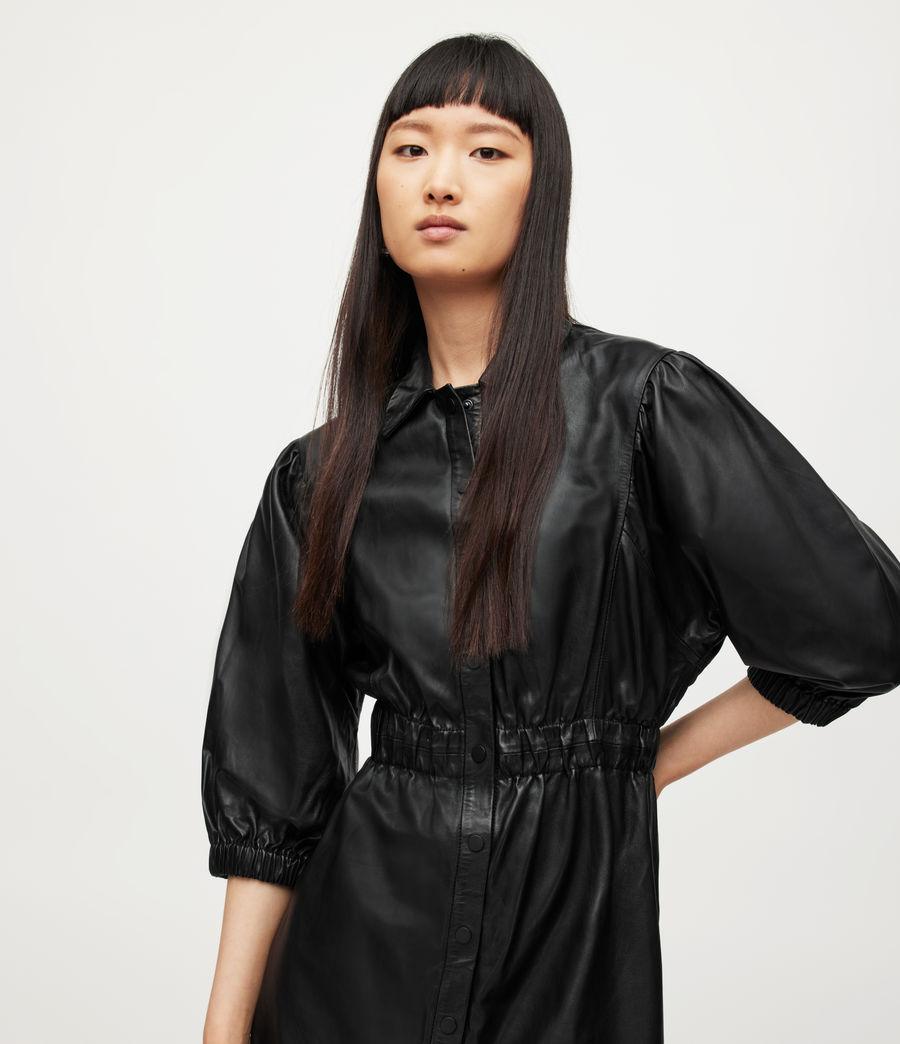 Femmes Osa Leather Shirt Dress (black) - Image 2
