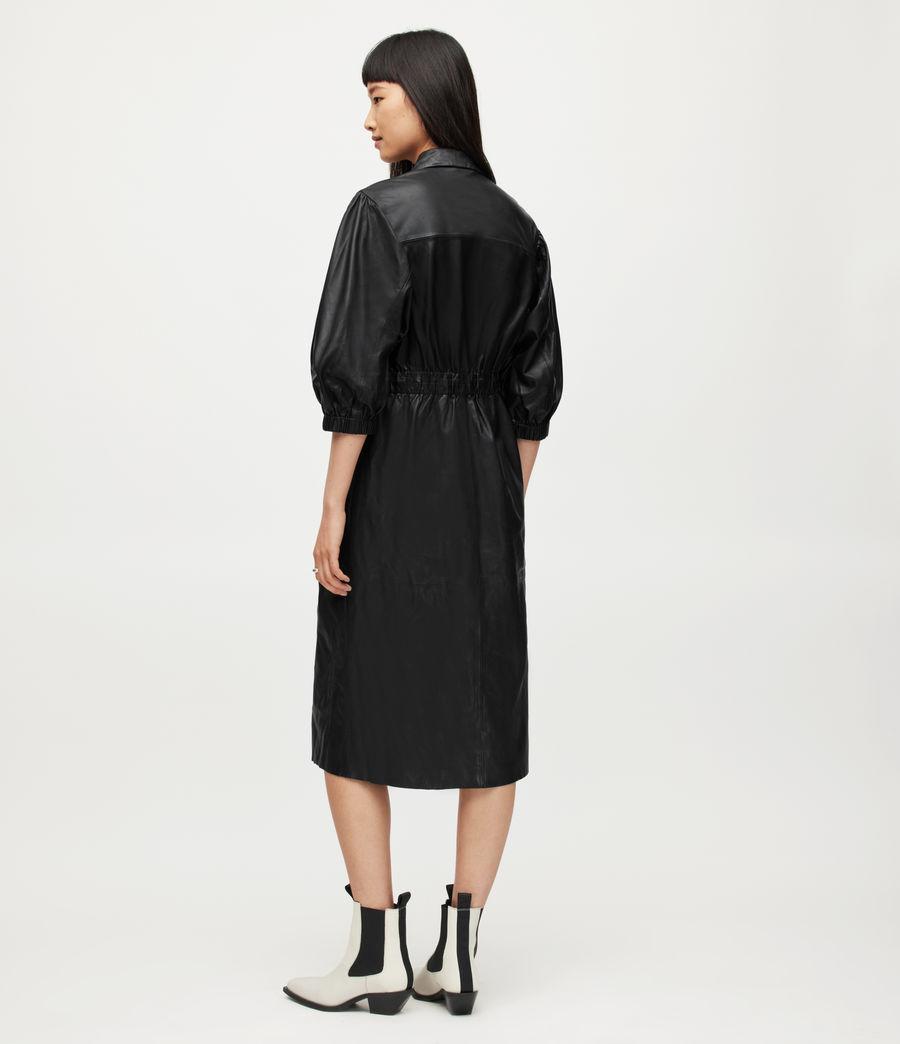 Femmes Osa Leather Shirt Dress (black) - Image 4
