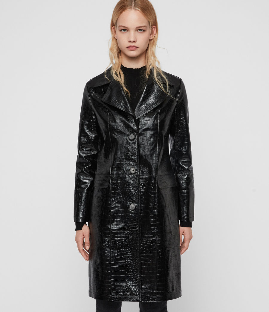 Womens Ali Leather Mac (black) - Image 2