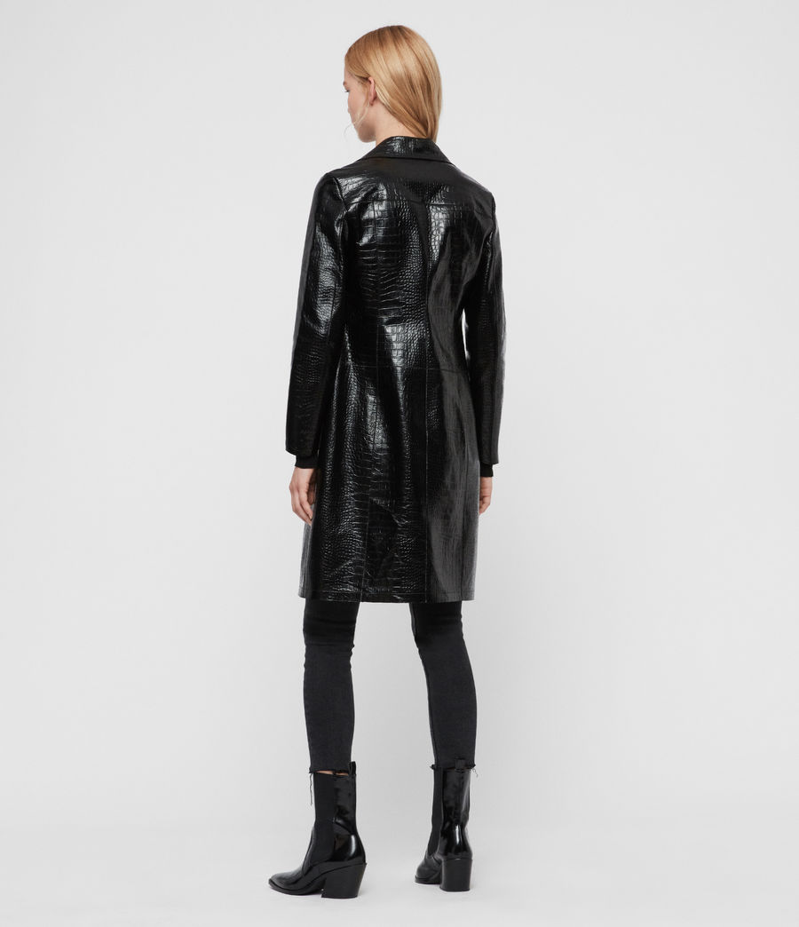 Womens Ali Leather Mac (black) - Image 6