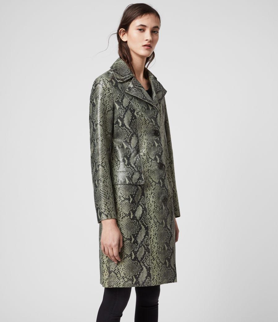 Women's Oba Leather Mac (snake_green) - Image 3