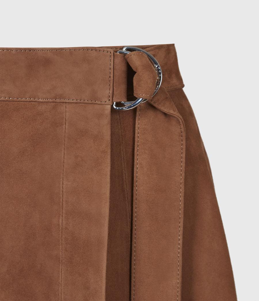 Womens Juva Suede Midi Skirt (tan_brown) - Image 5