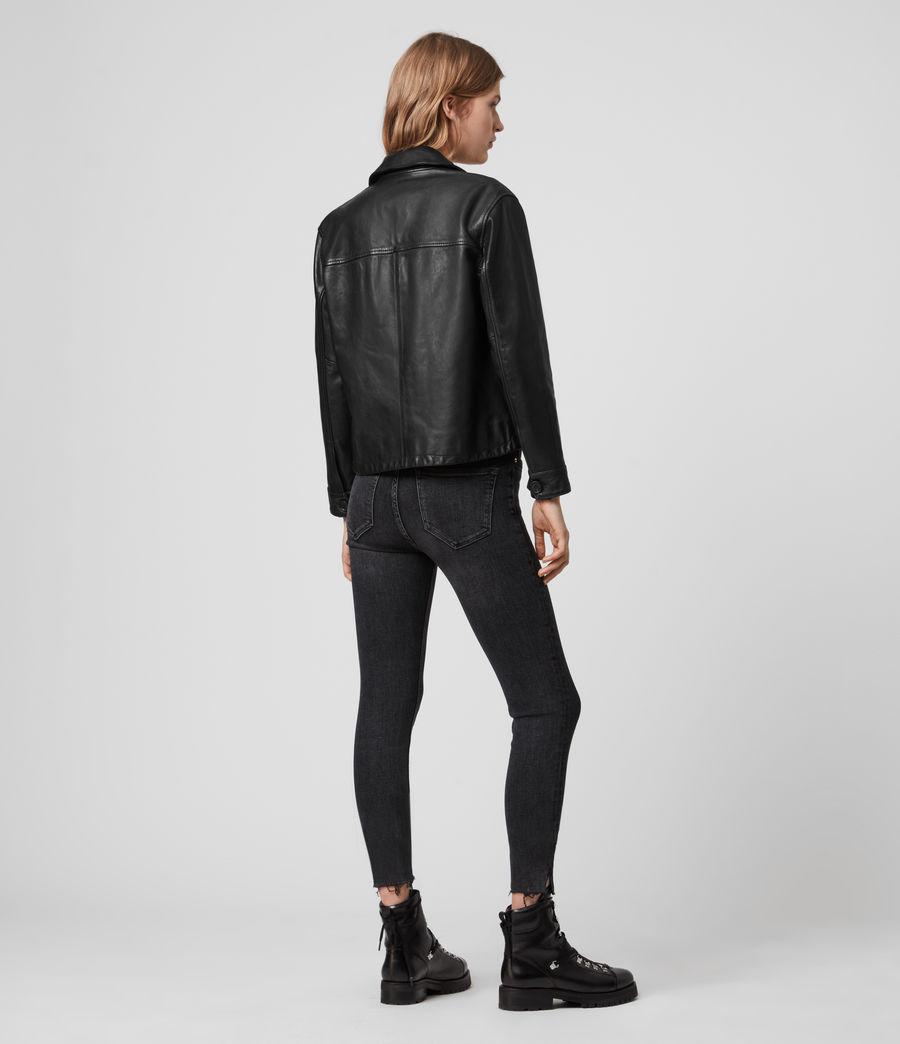 Women's Waver Leather Jacket (black) - Image 6