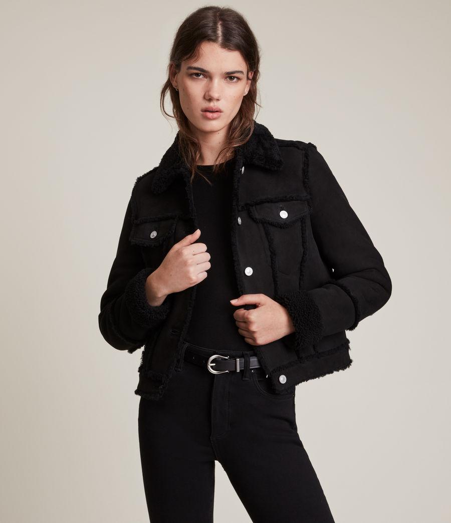 Women's Kingsly Shearling Jacket (black_black) - Image 1