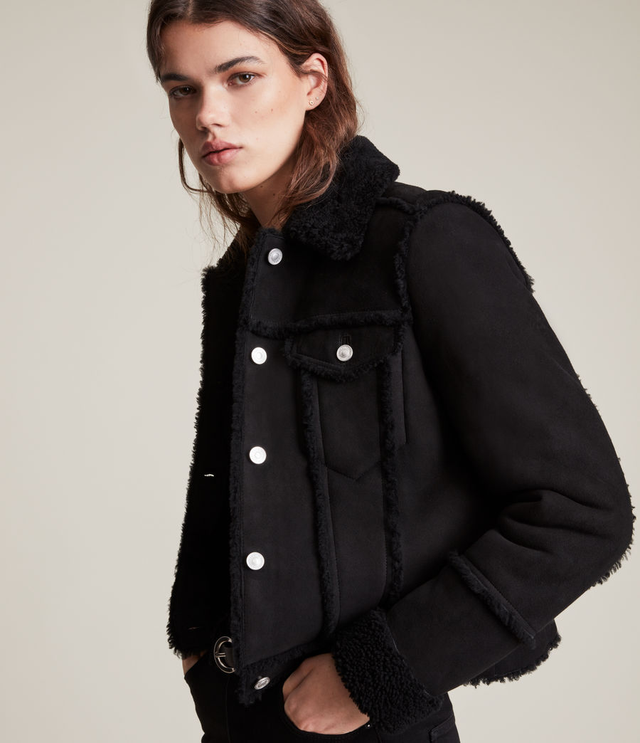 Women's Kingsly Shearling Jacket (black_black) - Image 2