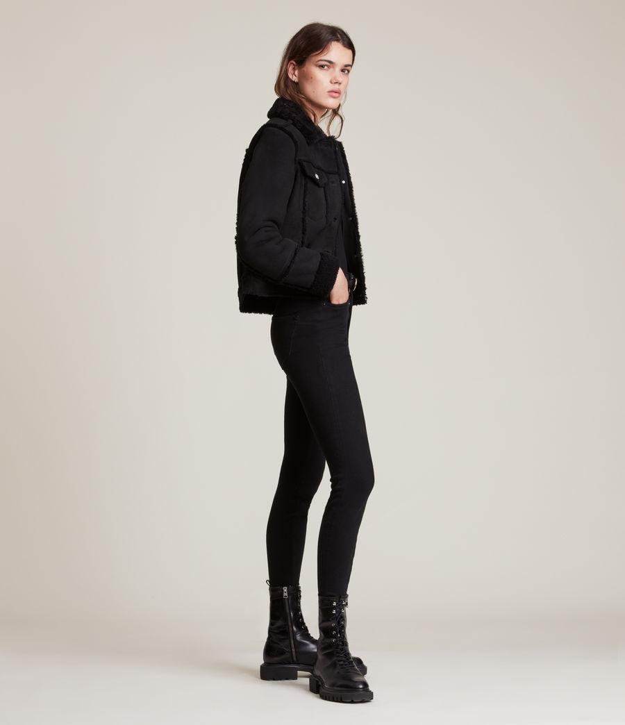 Women's Kingsly Shearling Jacket (black_black) - Image 4