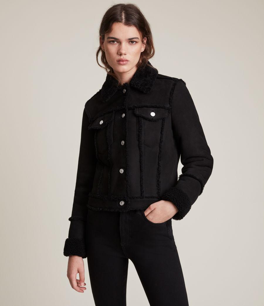 Women's Kingsly Shearling Jacket (black_black) - Image 5