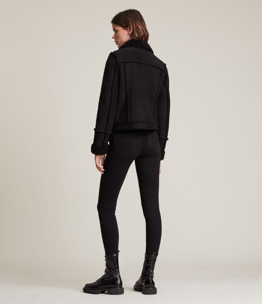 Women's Kingsly Shearling Jacket (black_black) - Image 6