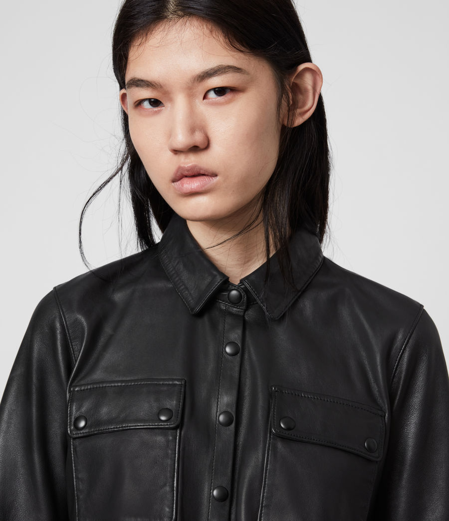 Women's Kadi Leather Dress (black) - Image 2