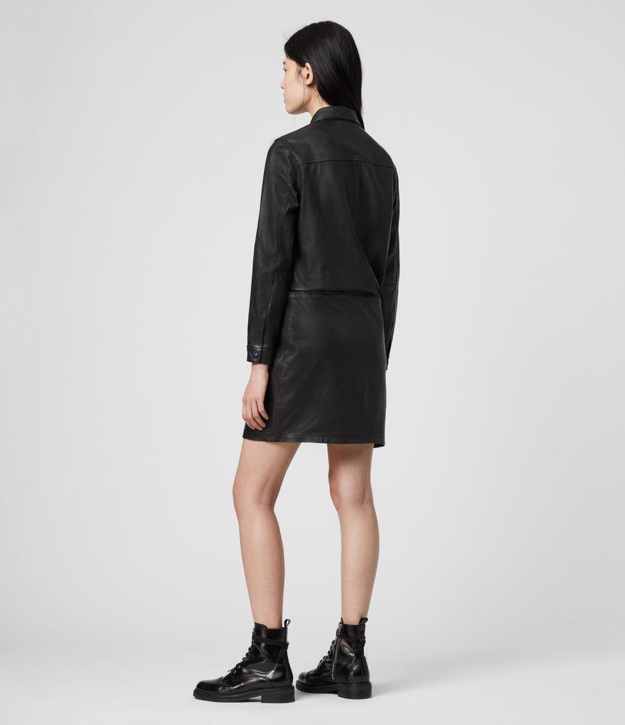 Women's Kadi Leather Dress (black) - Image 5
